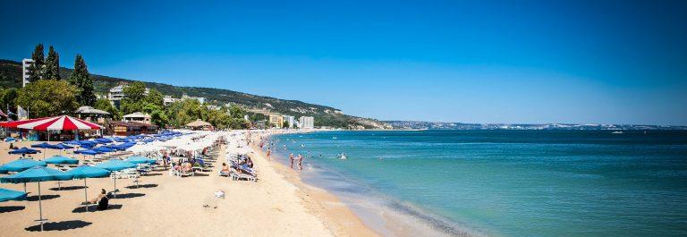 Panoramic view on Varna beach on Black sea in Bulgaria shutterstock_128742680-2