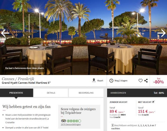 5 sterren hotel Martinez Cannes