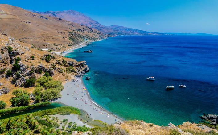 Kreta tips huurauto Preveli strand
