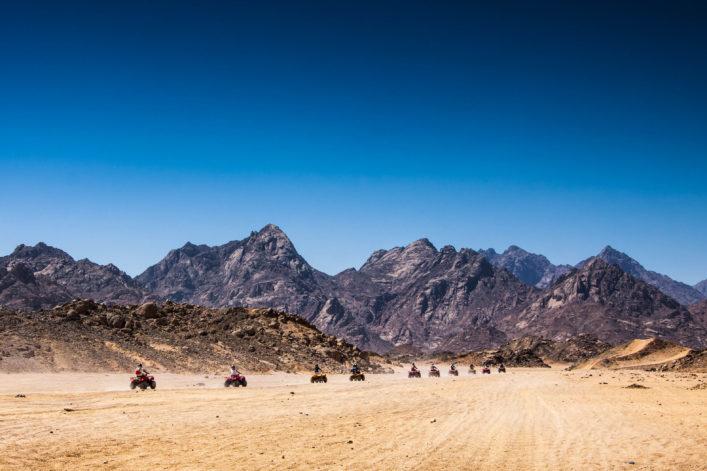 Quad tour in de Egyptische woestijn