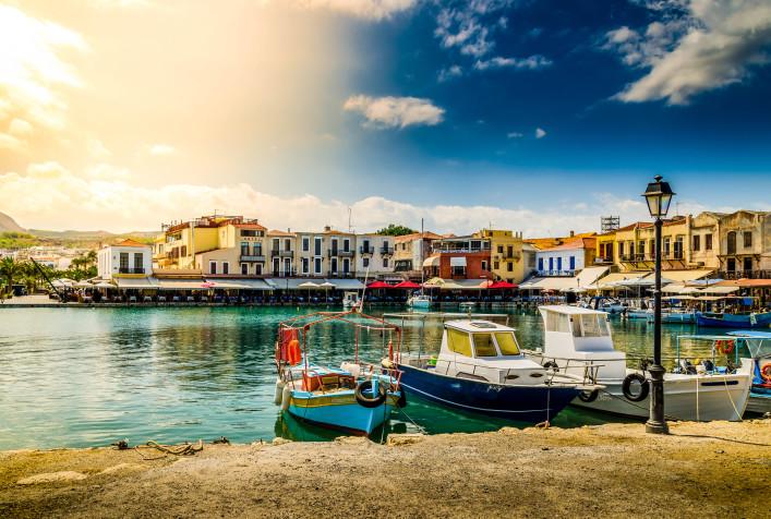 Kreta tips huurauto, oude venetiaanse haven