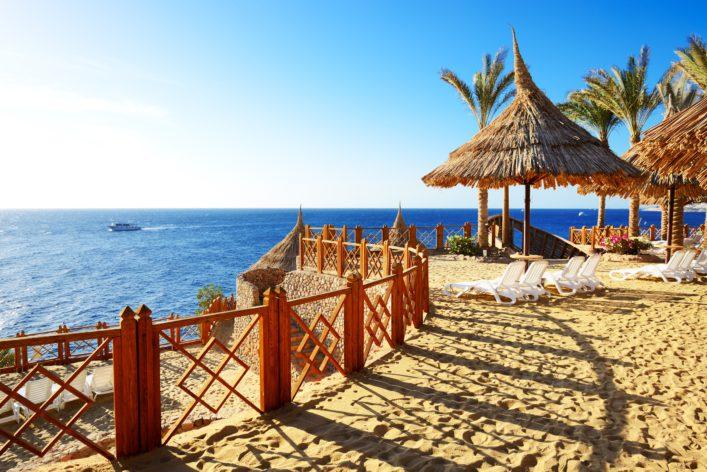 Het strand van Sharm el Sheikh