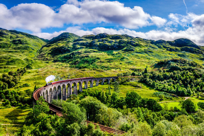 Glenfinnan viaduct in Schotland