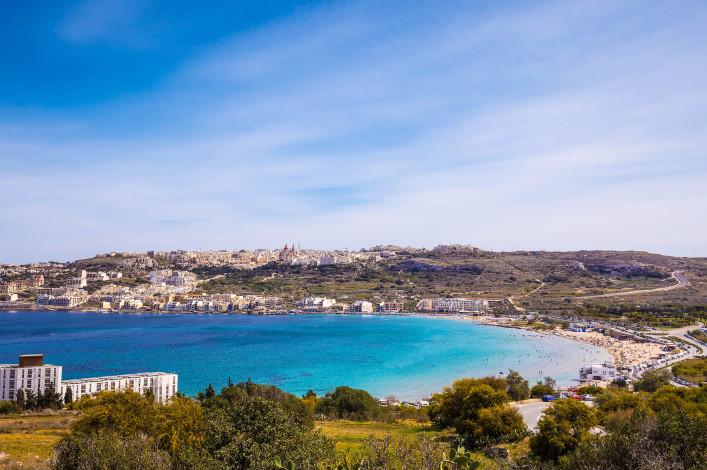 Mellieha Bay strand Malta
