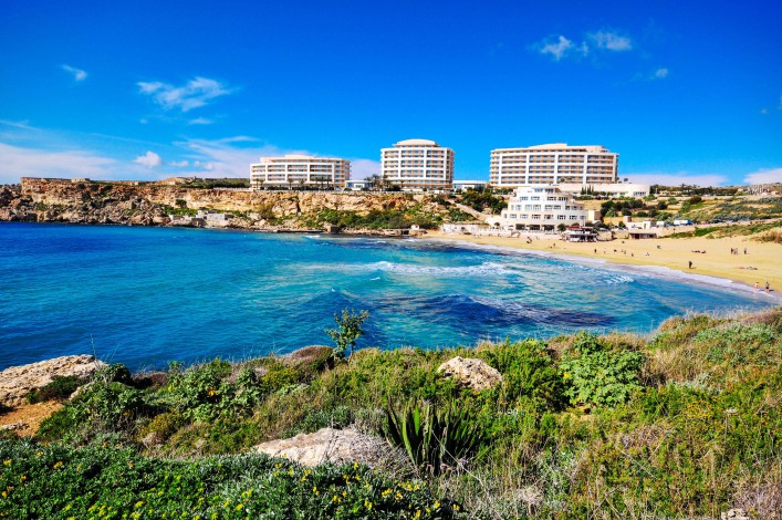 Mooiste stranden Malta Golden Beach