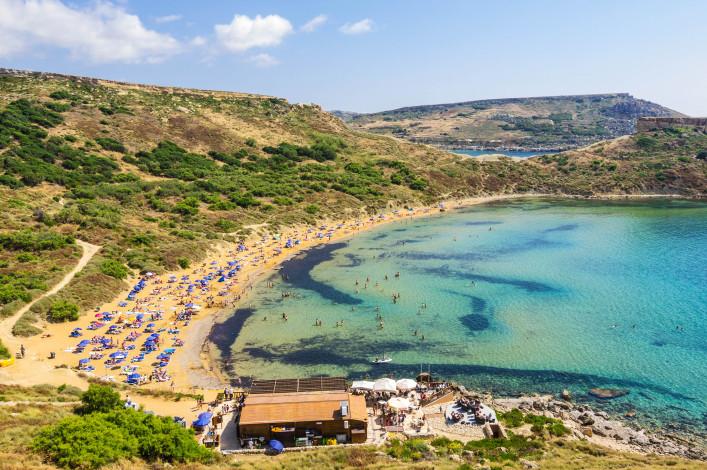 Ghajn Tuffieha strand Malta