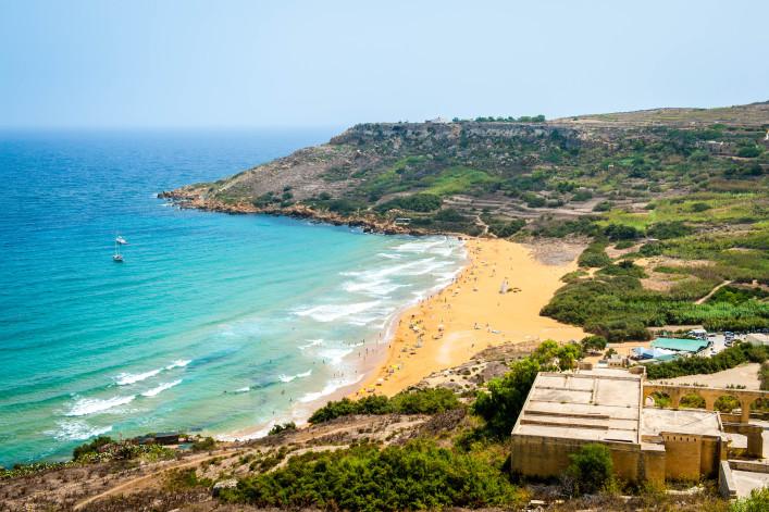 Ramla bay, strand van Gozo