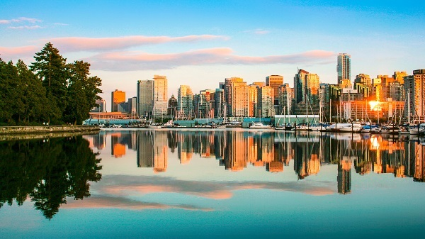 De skyline van Vancouver