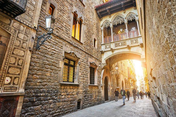 El Barri Gotic Barcelona
