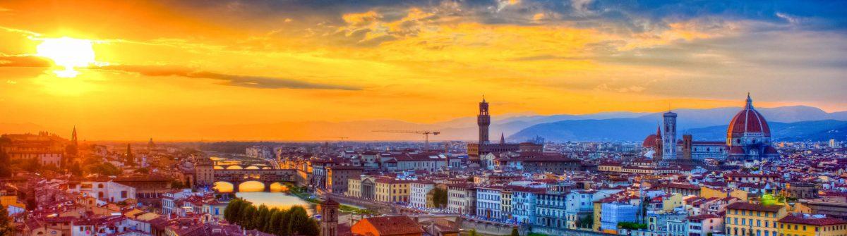 Florence Skyline City at sunset, Tuscany, Italy