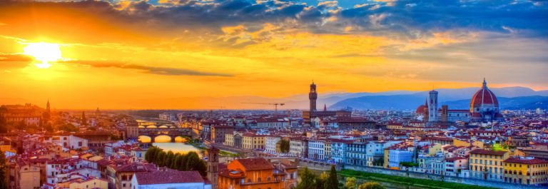 Florence Skyline City at sunset, Tuscany, Italy