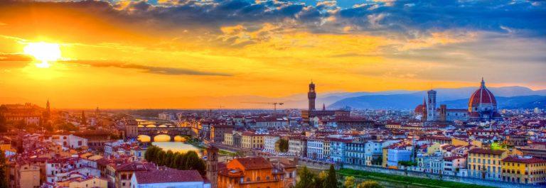 Florence uitzicht zonsondergang