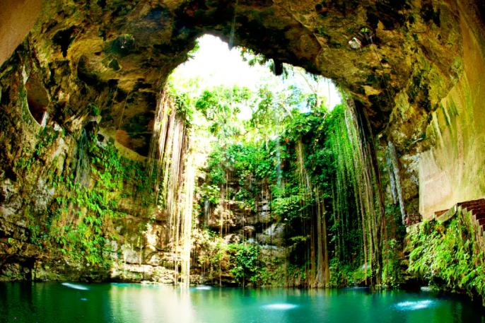 vakantie Mexico, cenote