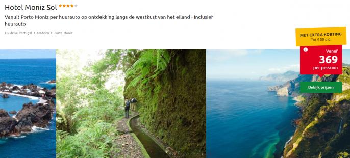 Vakantie Madeira huurauto