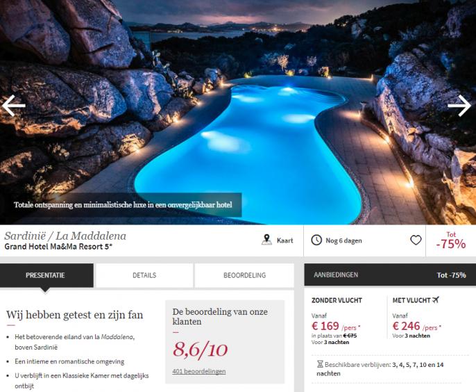 luxe vakantie Sardinie