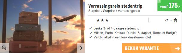 Screenshot van de verrassingsreis