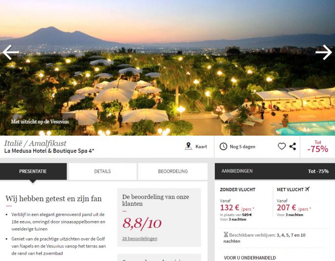 Amalfi vakantie