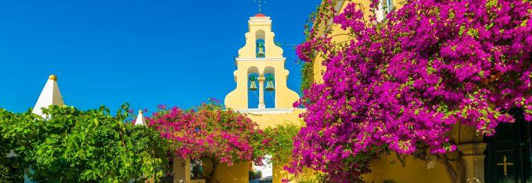 Kloster Panagía Theotóku tis Paleokastrítsas_Corfu Greece_shutterstock_516613018