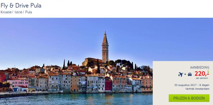 vakantie Kroatie huurauto