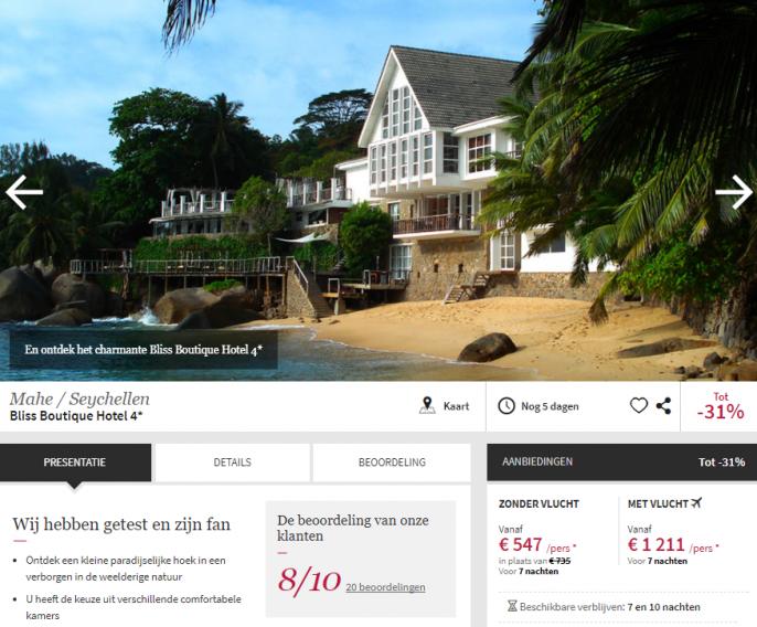 Seychellen vakantie