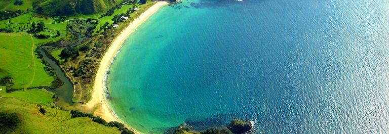 kustlijn van Nieuw Zeeland