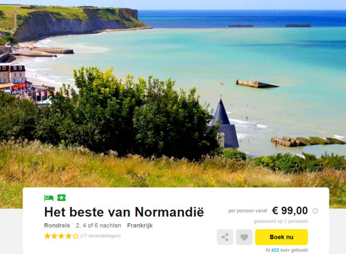 rondreis normandie