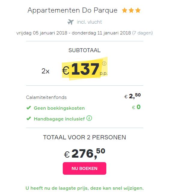 goedkope Algarve vakantie