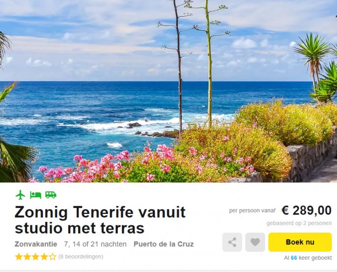 vakantie Tenerife december