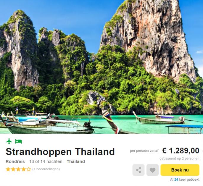 strandvakantie Thailand