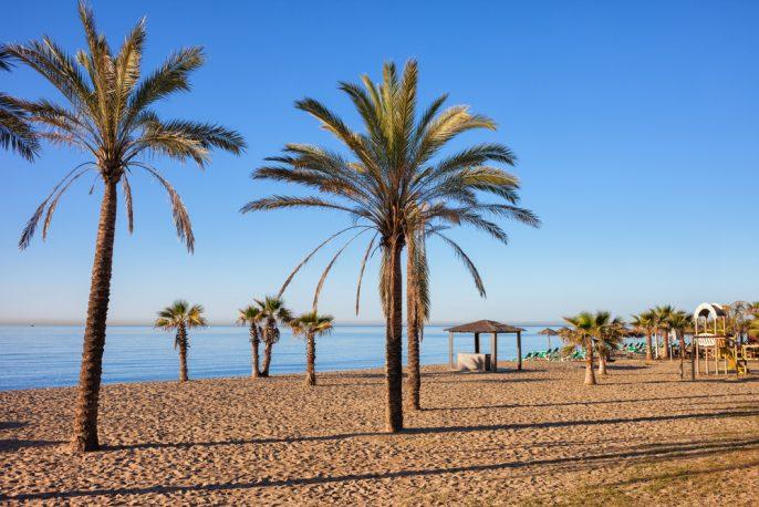 Het strand van Marbella