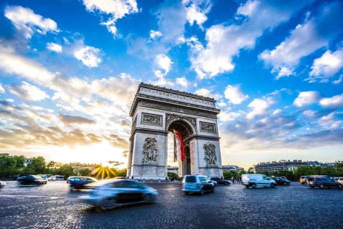 De triomfboog in Parijs