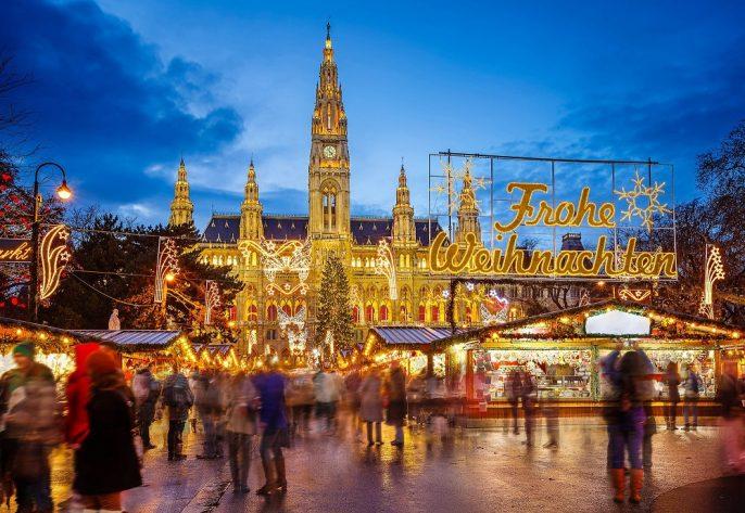 De kerstmarkt in Wenen