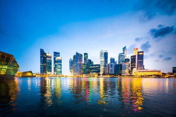 Singapore vanaf het water