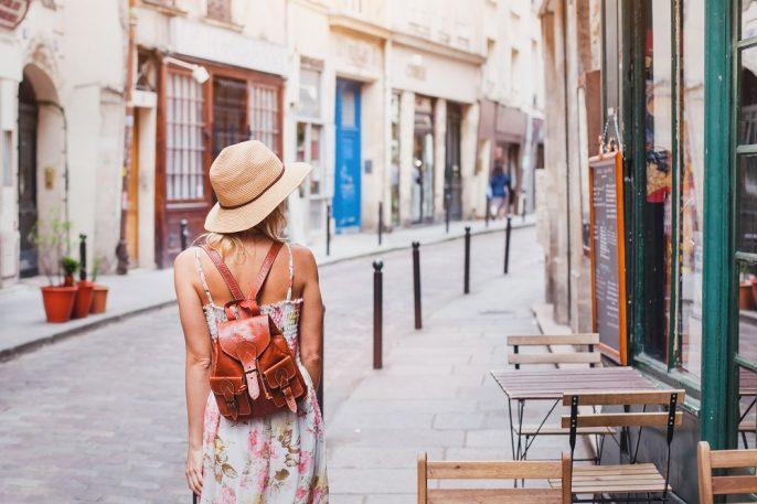 Wandelen door Parijs