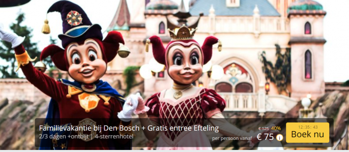 Screenshot Efteling deal