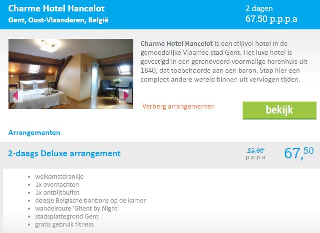 stedentrip Gent hotel Hancelot