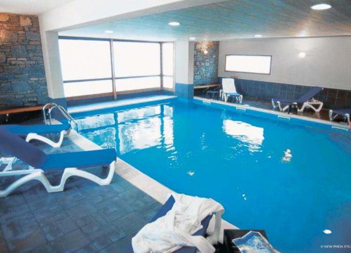 wintersport Frankrijk chalet zwembad