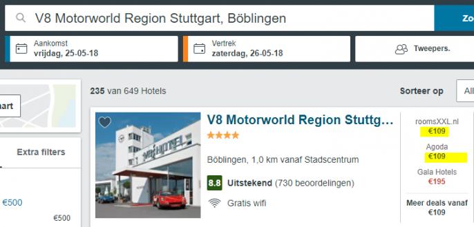 Screenshot van de Stuttgart deal