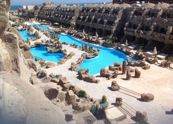 Grot hotel Egypte Caves Beach Resort