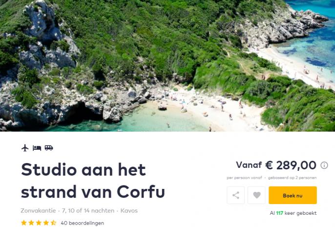 vakantie corfu