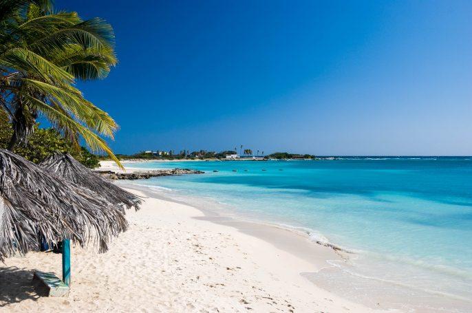 Strand op Aruba