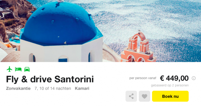 vakantie santorini