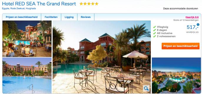 Screenshot Egypte Vakantie