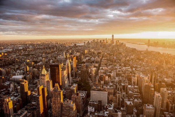 De skyline van New York
