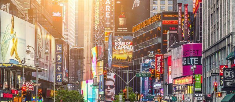 Kleurrijke gebouwen van Times Square