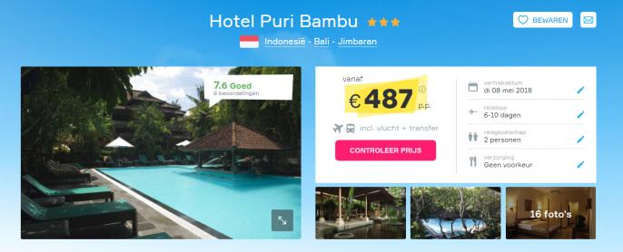 Screenshot deal Bali
