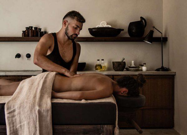 geniet van een massage