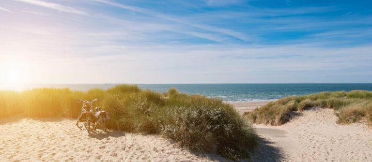 Het strand in Zeeland