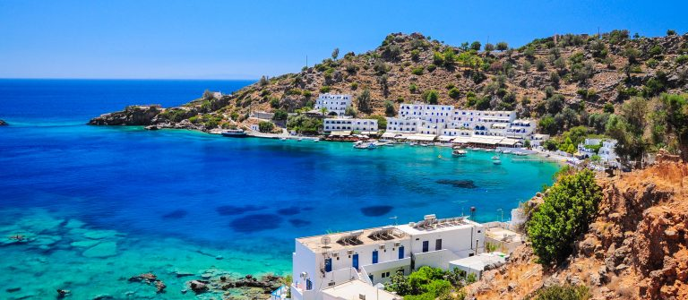 De kust van Kreta