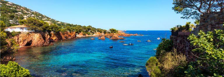 De Cote d'Azur nabij Frejus